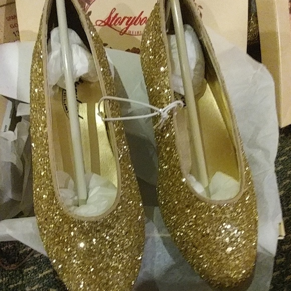 Gold Sparkle Slip On Dressy Girls